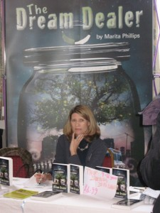Marita Phillips on the Authors' Table at the Chipping Norton Literary Festival
