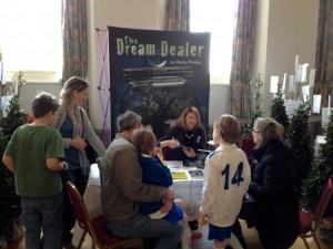 Marita Phillips signs copies of The Dream Dealer at the Chipping Norton Literary Festival